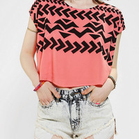 Lucca Couture Geo Print Cropped Top