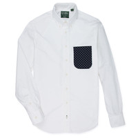 Snowflake Pocket Oxford White
