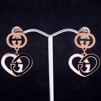 GUCCI new love double G logo female earrings