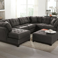 Rendezvous Gray 3 Pc. Sectional - Contemporary - Shop By Style - theroomplace - Categories