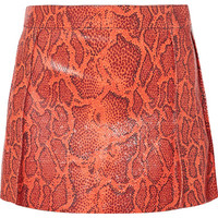 Chloé - Snake-effect leather mini skirt