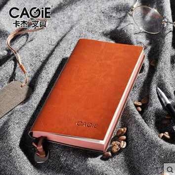 CAGIE 2017 Vintage Notepad Notebook A6 A5 B5 Diary Filofax Daily Memos Planner Agenda Notebook Pu Leather Sketchbook