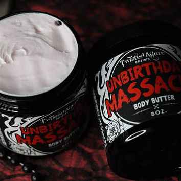8 oz Body Butter | UnBirthday Massacre | Strawberry Birthday Cake | Gothic body butter | Lotion | Gothic Soap