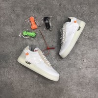 Ready stock 2018 new desigin #OFF WHITE X Nike Air Force 1 AF1 original 2