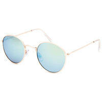 Blue Crown Small Aviator Sunglasses Gold One Size For Women 25653462101