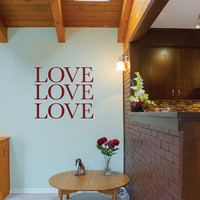 Love Decal Family Wall Sticker Mural Quote