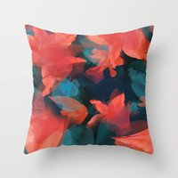 Midnight Garden Throw Pillow by _KEI