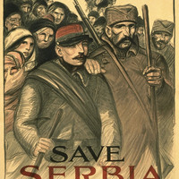 WWI Poster Save Serbia Our Ally. Send Contributions To Serbian Relief Committee