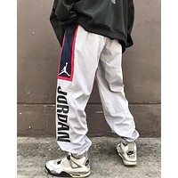 """Jordan"" Trending Men Women Stylish Casual Print Drawstring Sport Pants Trousers Sweatpants Grey"