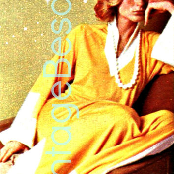 Slinky Gown 1970s Vintage SEWING PATTERN in PDF to Flatter your Figure is Easy to Make receive as Instant Download Pdf is  Instant Download