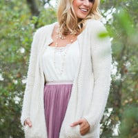 Andrea Open Front Wool Cardigan