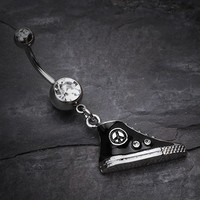 High Top Peace Sneaker Charm Belly Ring