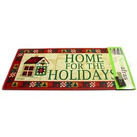 HOME FOR THE HOLIDAYS INSERT Rubber Door Mat Christmas 431150