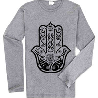 Hamsa fish Hand of Fatima spiritual for Long Sleeved Mens and Long Sleeved Girls T Shirt