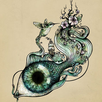 Flowing Inspiration Art Print by Enkel Dika | Society6