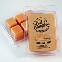 Pumpkin Creme Brulee Scented Wax Melts - Maximum Fragrance Wax Cubes - Autumn Pumpkin, Maple & Sugar Aroma Candle Melts