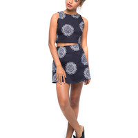 Xaria Crop and Annie Skirt Pack in Big Lotus By Motel