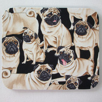 mousepad / Mouse Pad / Mat round  or rectangle - Pugs dogs dog lover gift desk office accessory coworker gift