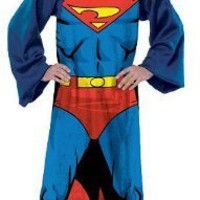 The Northwest Company 48-Inch by 71-Inch Adult Comfy Throw with Sleeves Being Superman Design