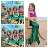 2016 New Small Tail Mermaid Ariel Princess Dress