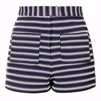 Stripe High-Waisted Shorts - Shorts - Clothing