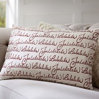 FA LA LA LA PILLOW COVER