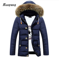 New Arrival Fashion Men Cotton Coat Jacket Keep Warm Thicker Long Style Winter Casual Wear Handsome Y00176