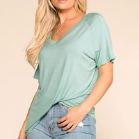 Sure Bet Mint V-Neck Tee