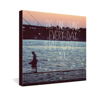 Happee Monkee Do One Thing Every Day Gallery Wrapped Canvas
