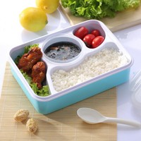 Bento box Tableware Dinnerware Food Container Bento Box with soup bowl Simple PP health for Kids Lovers