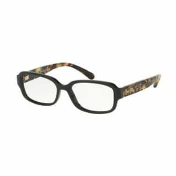 Coach Women's HC6105 5449 53 Black/Dark Vintage Tortoise Rectangle Plastic Eyeglasses