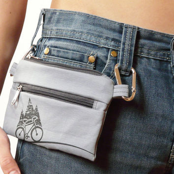Mens Belt bag ~ Vegan unisex cycling bike wallet ~ cell phone covers, Bicycle cover, unique gift for men women, sport cases