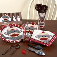 Sock Monkey Party Supplies for 16