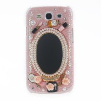 Leegoal(TM) Pink Luxury 3D Mirror & Fashion Accessories Diamond Crystal Case Cover For Samsung Galaxy S3 III i9300