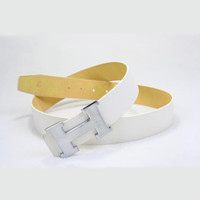 Perfect HERMES Woman Fashion Smooth Buckle Belt Leather Belt
