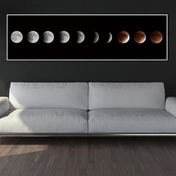 wall art pictures art print moon canvas painting home decor print and poster no frame Painting decoration for living room