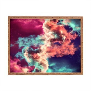 Caleb Troy Yin Yang Painted Clouds Rectangular Tray