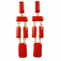 Fashion Simple Earrings Resin Long Jewelry Gold Chain Jewelry Chunky Statement Pendant Earrings