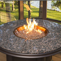 4 Foot Gas Fire Pit Table With Supercast Granite Top