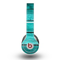 The Trendy Green Washed Wood Planks Skin for the Beats by Dre Original Solo-Solo HD Headphones
