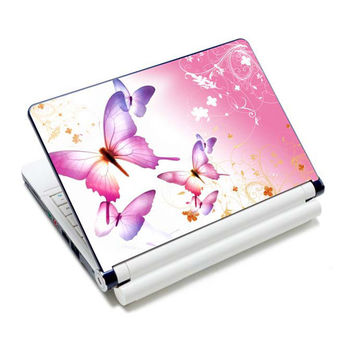 """Butterfly 7"""" 10"""" 12"""" 13"""" 13.3"""" 14"""" 15"""" 15.6"""" Laptop PC Decal Notebook Sticker Cover Protector Skin For 7~15.6 inch LENOVO DELL"""