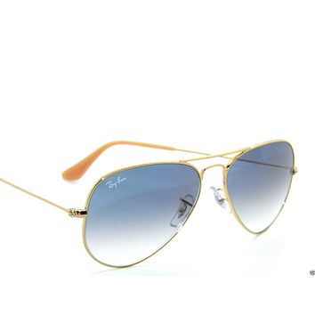 Cheap RAY BAN SunglaSSeS 3025 Rayban 001/3F Gold/BLUE Gradient LARGE AVIATORS 58 outlet