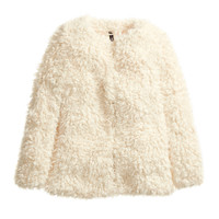H&M - Faux Fur Jacket - Natural white - Ladies