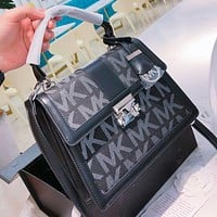 MK New fashion more letter leather shoulder bag crossbody bag handbag