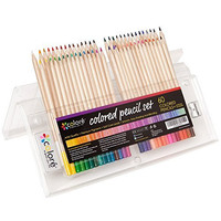 Colore Colored Pencils - Premium Pre-Sharpened Color Pencil Set For Drawing Coloring Pages - FREE Eraser & Sharpener - Great Art School Supplies For Kids & Adults Coloring Books - 60 Colors