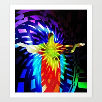 Jesus Christ Eternal Light Art Print by Gift Of Signs