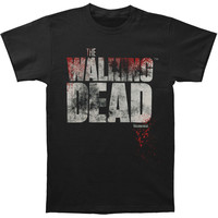 Walking Dead Men's  Splatter T-shirt Black Rockabilia