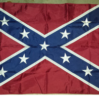 5 X 3ft Confederate/Rebel Sewn Stars and Panels 100% Nylon Super Heavy Flag - FREE USA SHIPPING