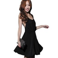 3 Colors Ladies Sexy Backless Dresses Women's Clubwear Dresses
