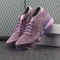 Nike Air VaporMax Vapor Max 2018 Flyknit Women Purple Sport Running Shoes 849557-500
